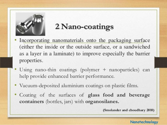 application of nanotechnology in food industry research papers Nanotechnology in agri-food production: an overview  nanofoods and the use of nanotechnology in the food industry  food nanotechnology applications .