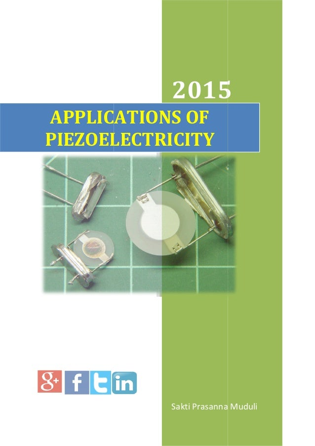 Applications of piezoelectricity