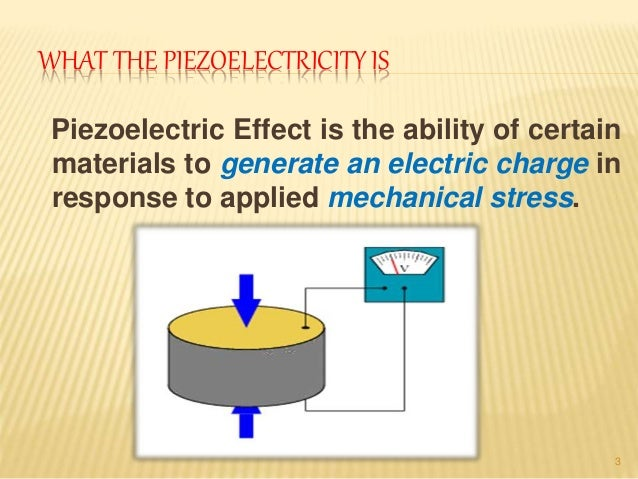 Applications of piezo-electricity