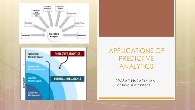 PRASAD NARASIMHAN – Technical Architect APPLICATIONS OF PREDICTIVE ANALYTICS