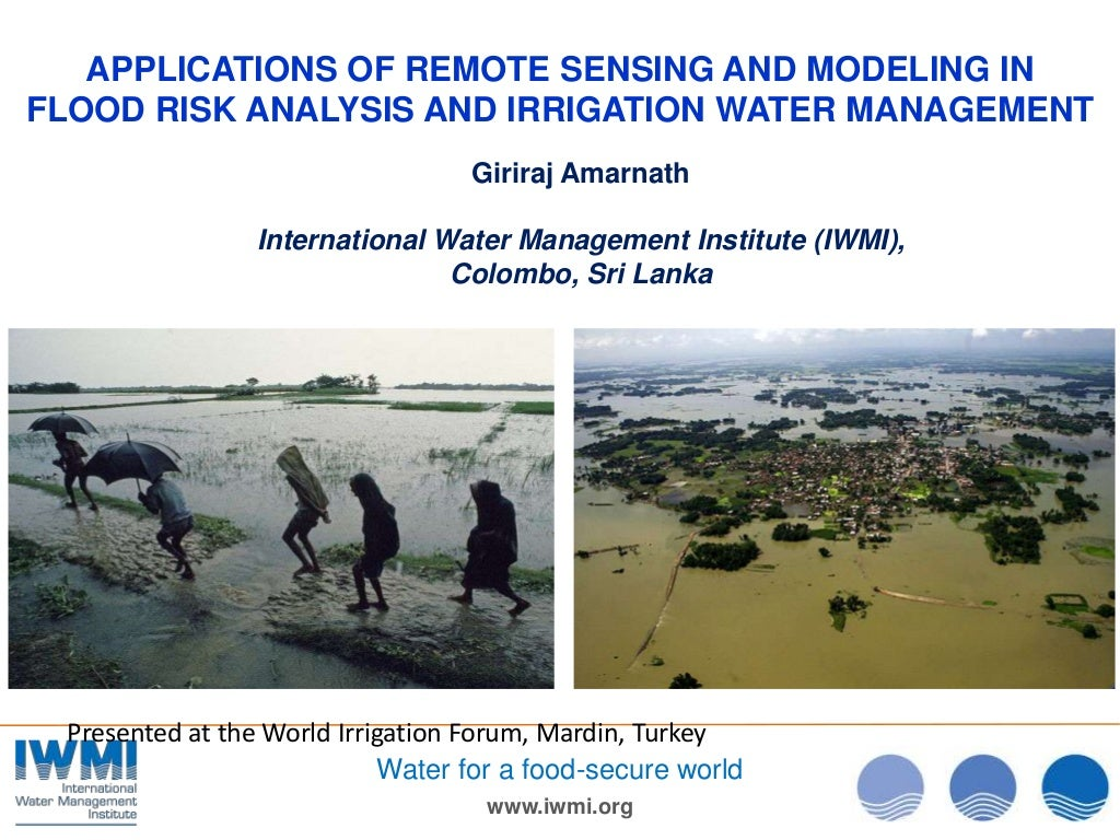 Applications of remote sensing and modelling in flood risk analysis and irrigation water management