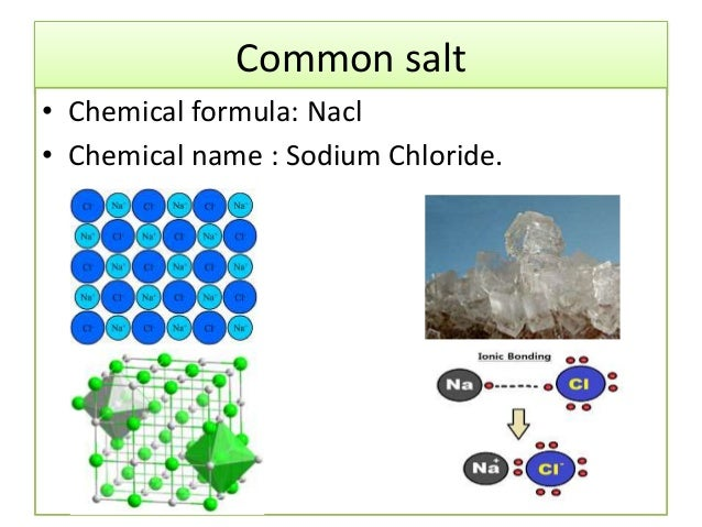 Applications of salts H2 Structural Formula