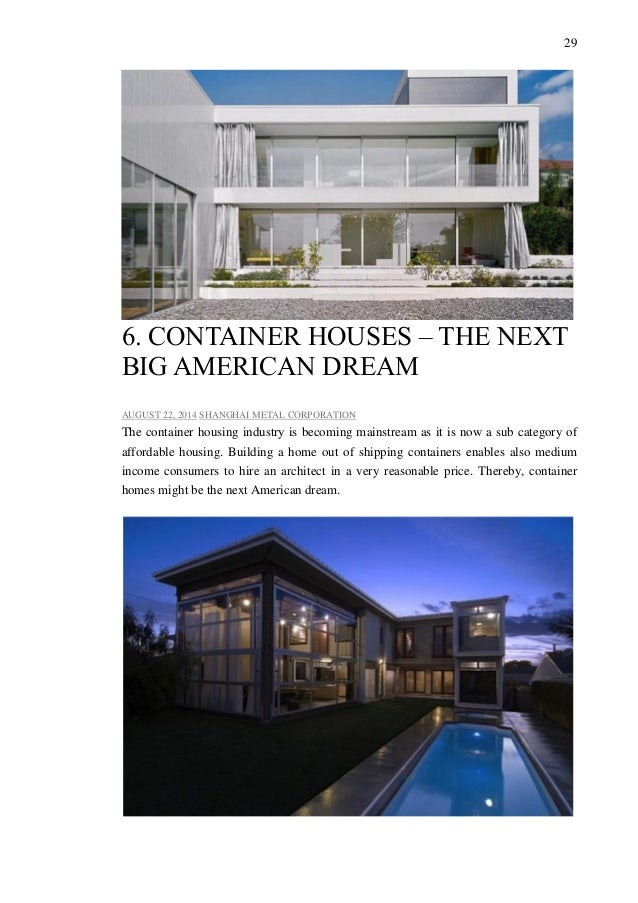 container housing is becoming a great