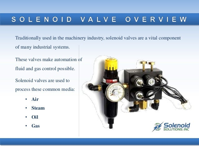 Applications Of Solenoid Valves