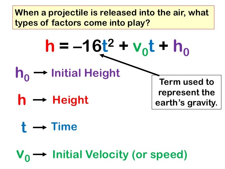 the factors of air resistance and gravity in projectiles Deceleration of a projectile (with air resistance)  if you can neglect gravity:  time of 0553 seconds when i don't take into account factors which would.