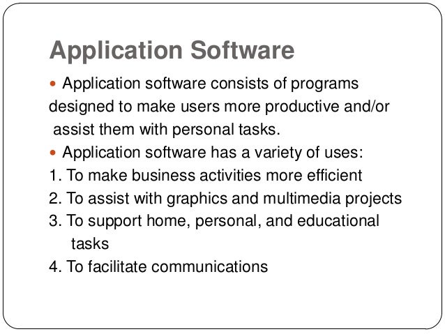 application software Terminology flashcards for chapter 3 - application software in the discovering computers: fundamentals section of the cis 110 text for johnston community college.