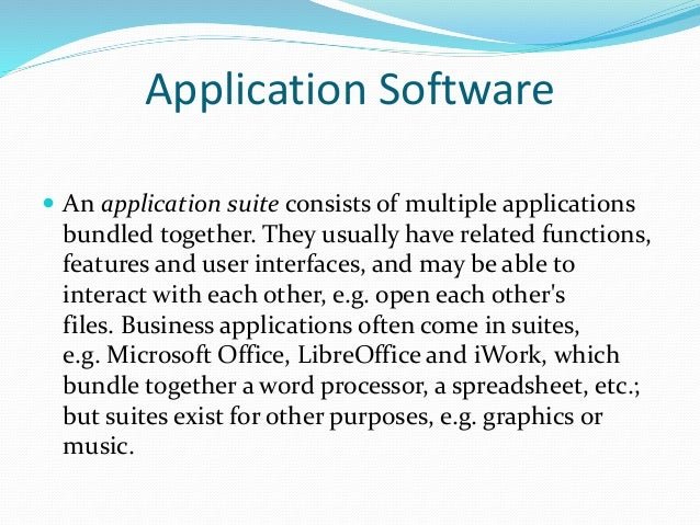 applications software