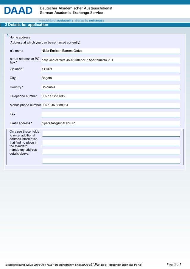 Application summary