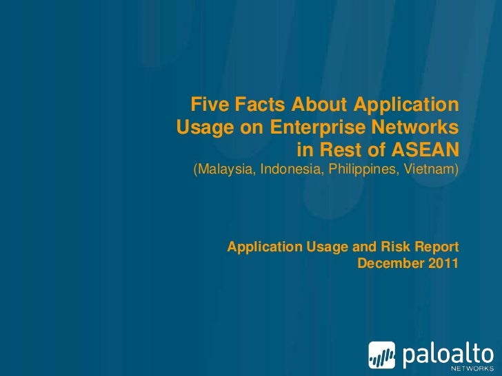Five Facts About ApplicationUsage on Enterprise Networks            in Rest of ASEAN (Malaysia, Indonesia, Philippines, Vi...