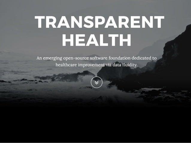 @ekivemark Solving How Consumers Access their Data Mark Scrimshire TransparentHealth.org