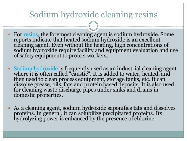 how to make sodium hydroxide without electricity