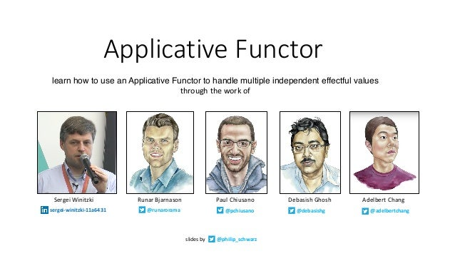 Applicative	Functor learn how to use an Applicative Functor to handle multiple independent effectful values through	the	wo...