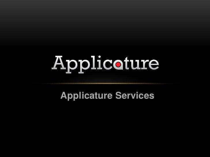 Applicature Services<br />