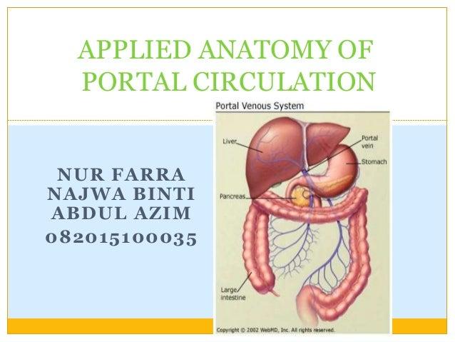 Applied Anatomy Of Portal Circulation