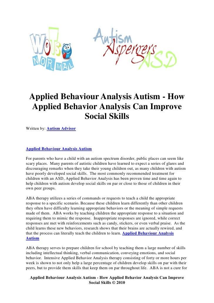 Applied Behavior Analysis – Atlanta Autism Center