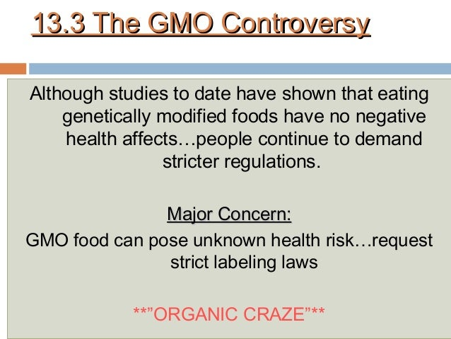 Genetically Modified Food Pose A Health Risk