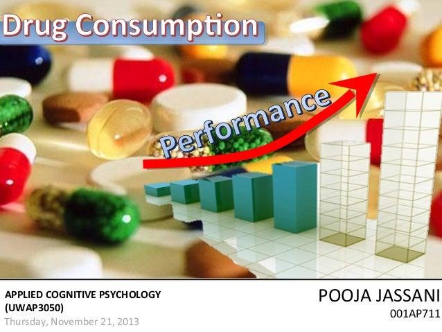 APPLIED COGNITIVE PSYCHOLOGY (UWAP3050) Thursday, November 21, 2013  POOJA JASSANI 001AP711