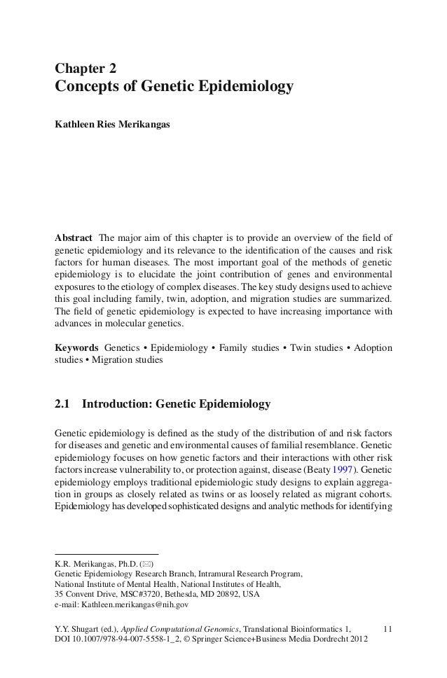 11Y.Y. Shugart (ed.), Applied Computational Genomics, Translational Bioinformatics 1,DOI 10.1007/978-94-007-5558-1_2, © Sp...