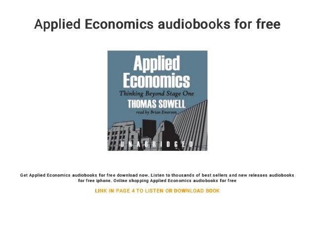 Applied Economics Audiobooks For Free