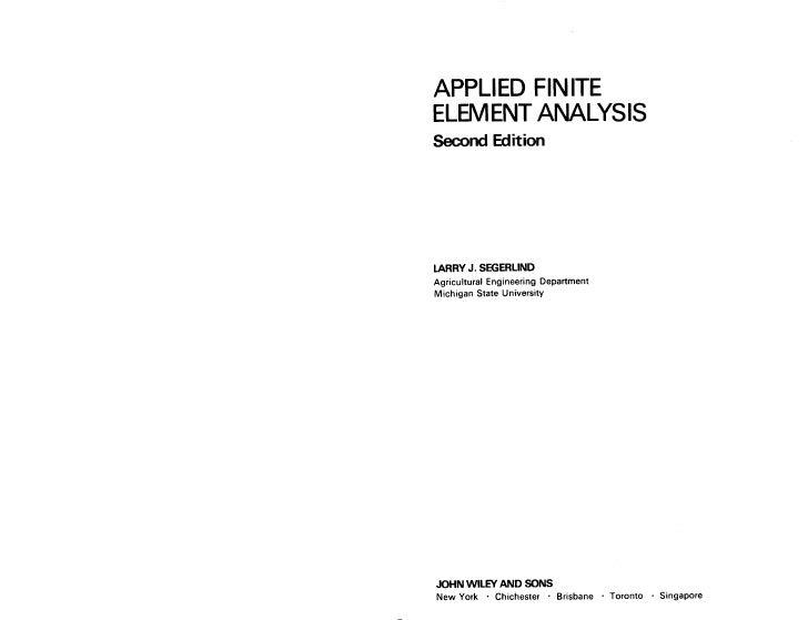 Applied Finite Element Analysis Slide 2