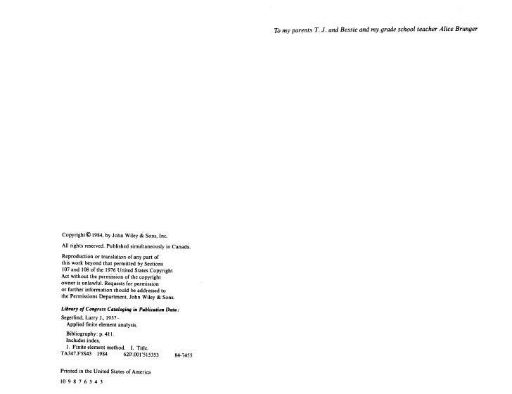 Applied Finite Element Analysis Slide 3