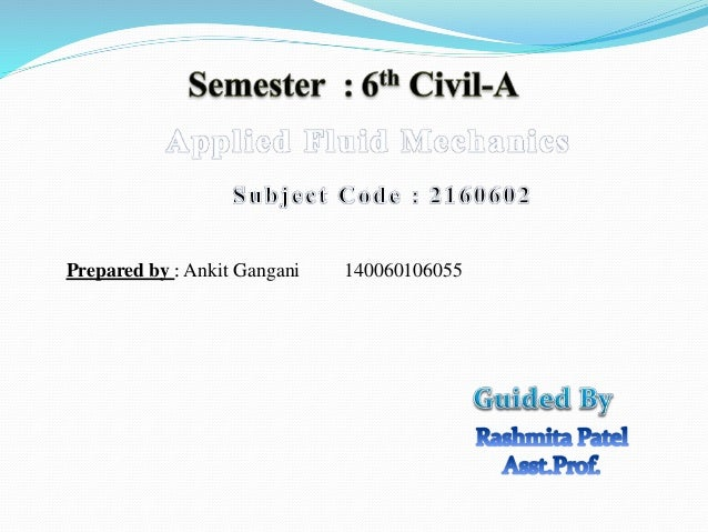 Applied fluid mechanics flows & applications Slide 2