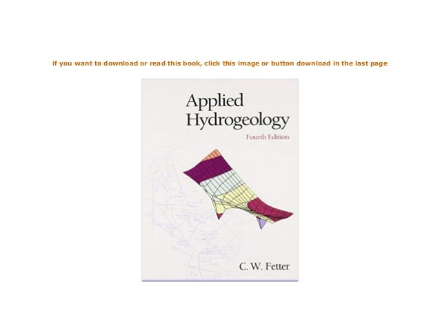 ~[E-BOOK_DOWNLOAD]~ Applied Hydrogeology 4th Edition 4th