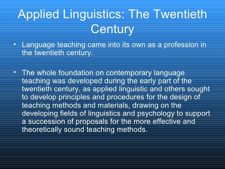 the scope of applied linguistics Encyclopedic dictionary of applied linguistics : a handbook for language teaching / edited by keith johnson and helen johnson.