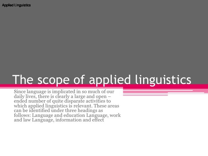 applied linguistics 4 essay Answers to all toefl essay questions language teaching and applied linguistics hosted by imagespcmacorg report applied linguistics phonetics language.