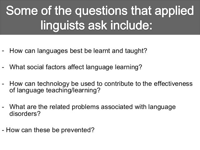 Applied linguistics presentation