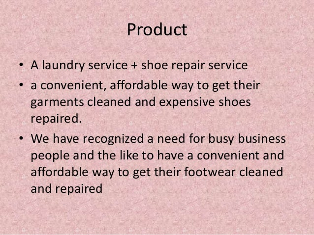 shoe laundry business plan