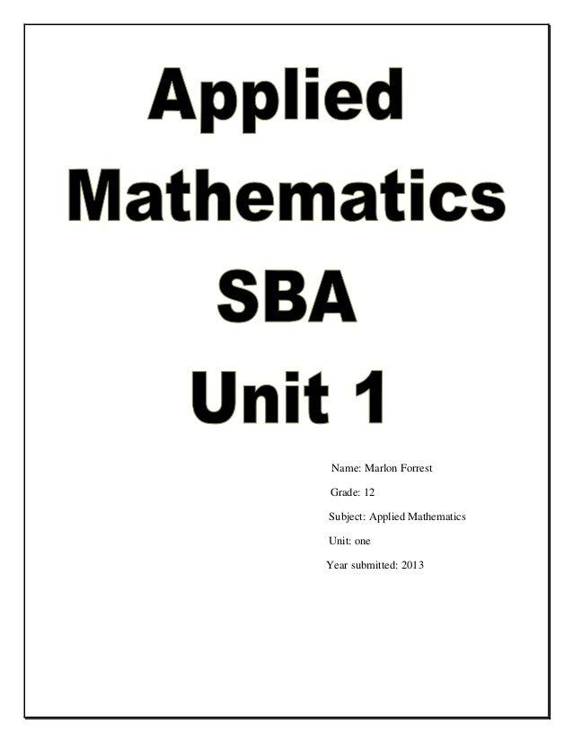 math sba ideas