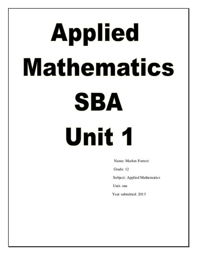 math sba 06 Teachers see sba as a cxc imposition and as an extra task and not as part of the assessment they normally make sba is not a creature created by cxc reports sent home every term in each form are the result of school based assessment.