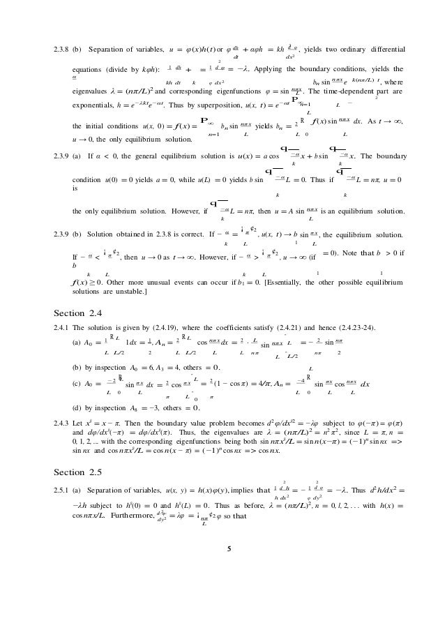 Applied partial differential equations with fourier series