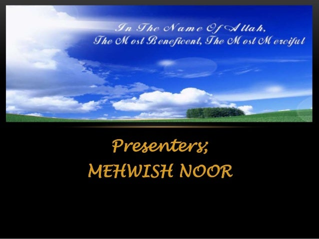 Presenters; MEHWISH NOOR