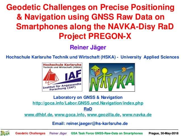 Reiner Jäger Karlsruhe University of Applied Sciences