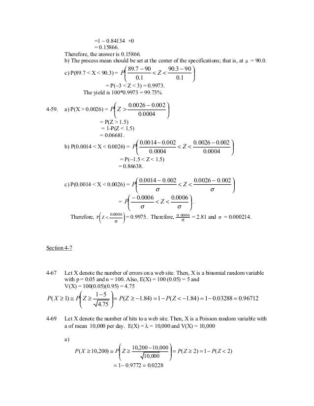 applied statistics and probability for engineers solution montgomer rh slideshare net Applied Statistics and Probability Applied Statistics Problems