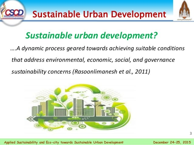 Applied Sustainability And Eco City Towards Sustainable