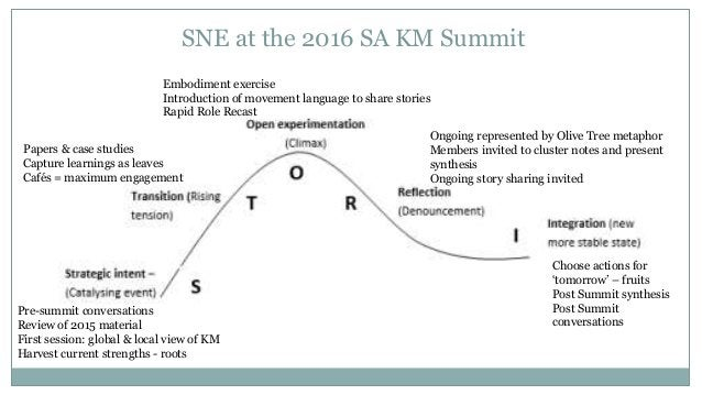 SNE at the 2016 SA KM Summit Pre-summit conversations Review of 2015 material First session: global & local view of KM Har...