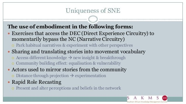 Pattern 1: Shift from habitual narrative to different narrative. Habitual narrative - KM 'vs' IM/IT - It is about the soft...