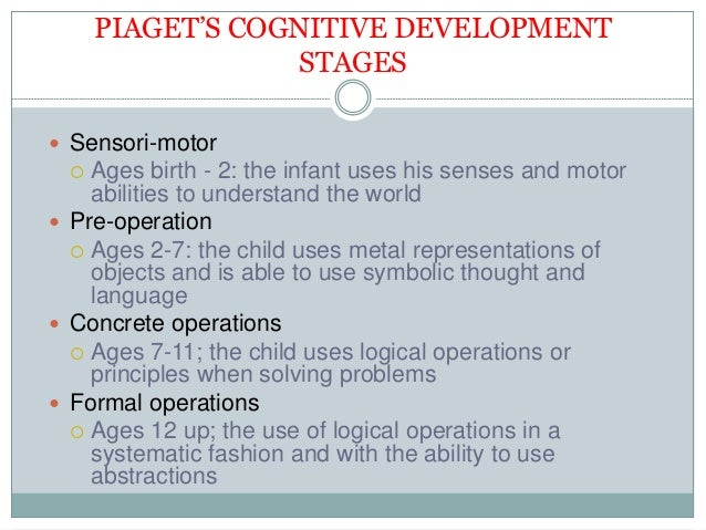 the works of jean piaget and development of his sensori motor intelligence Psychologist jean piaget suggested that children go through four key stages of   based on his observations, he concluded that children were not less intelligent  than  the sensorimotor stage that children go through a period of dramatic  growth and  they are continually making new discoveries about how the world  works.