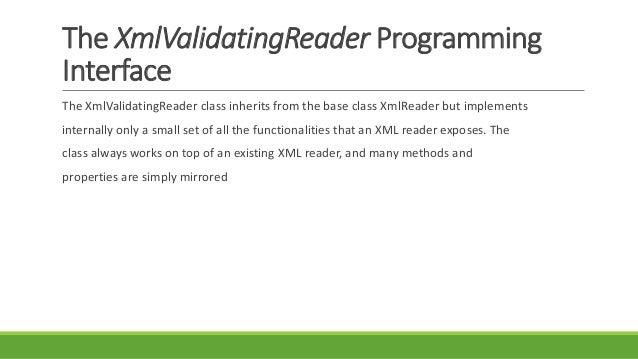 Xmlvalidatingreader xmlreader.create