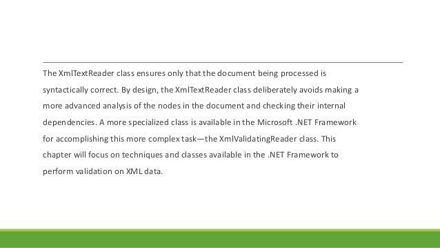 Xmlvalidatingreader net 2 0