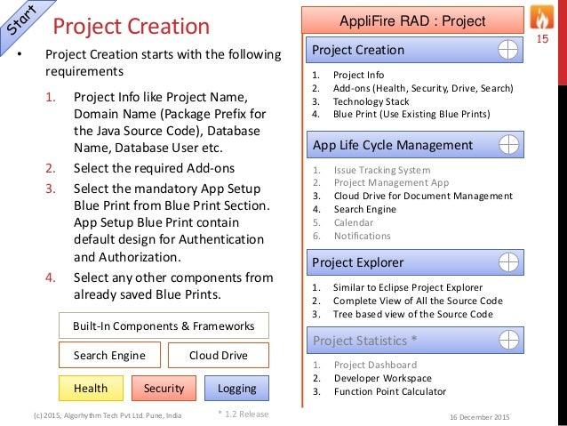 design applifire spider app creation flow 15 - Database Design Guidelines