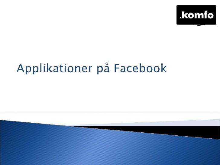 Applikationer på Facebook