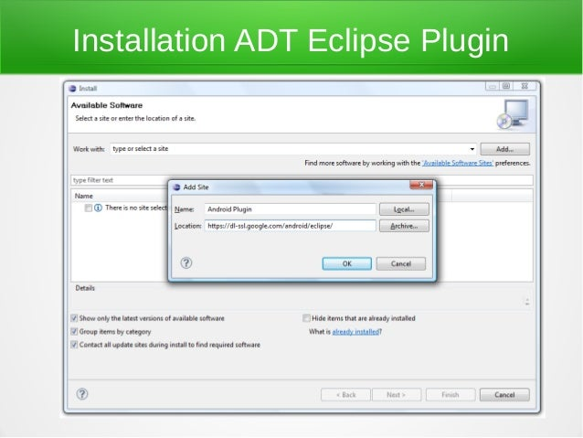 Installation ADT Eclipse Plugin