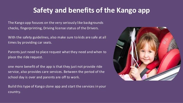 App like kango Rides and Care for Kids