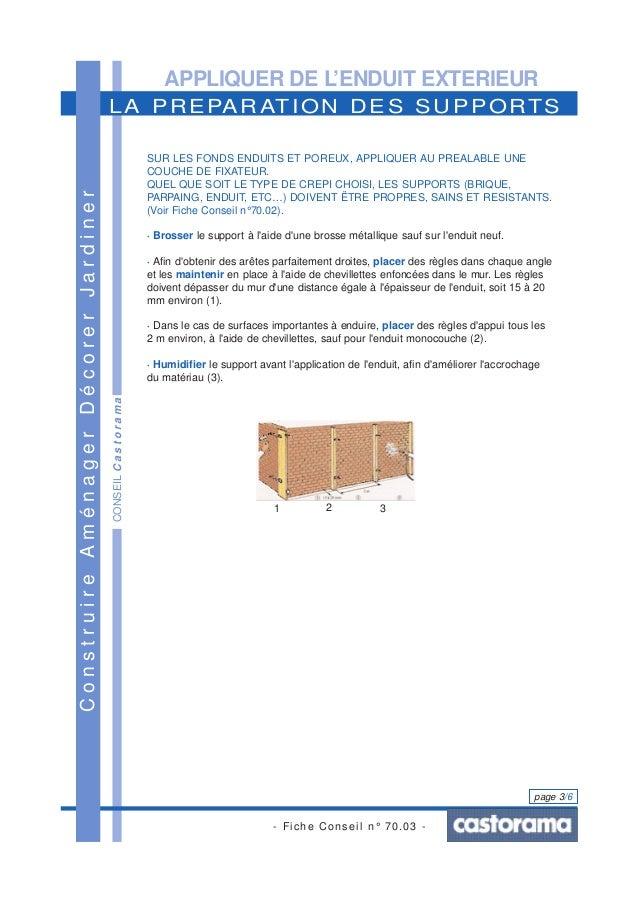 ... Onctueux Onctueux Onctueux; 3. APPLIQUER DE Lu0027ENDUIT EXTERIEUR ...