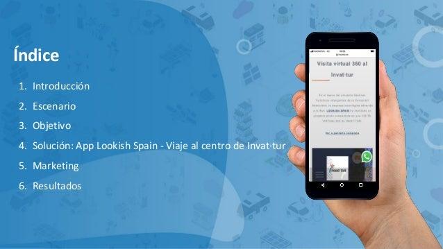 Índice 1. Introducción 2. Escenario 3. Objetivo 4. Solución: App Lookish Spain - Viaje al centro de Invat·tur 5. Marketing...
