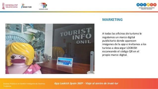 MARKETING A todas las oficinas de turismo le regalamos un marco digital publicitario donde aparecen imágenes de la app e i...